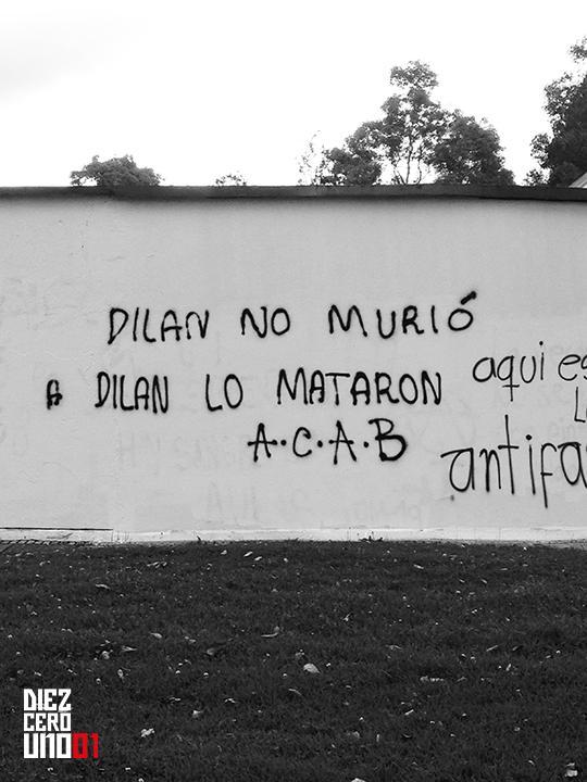 Graffiti en el Museo de Arte de la Unviersidad Nacional de Colombia