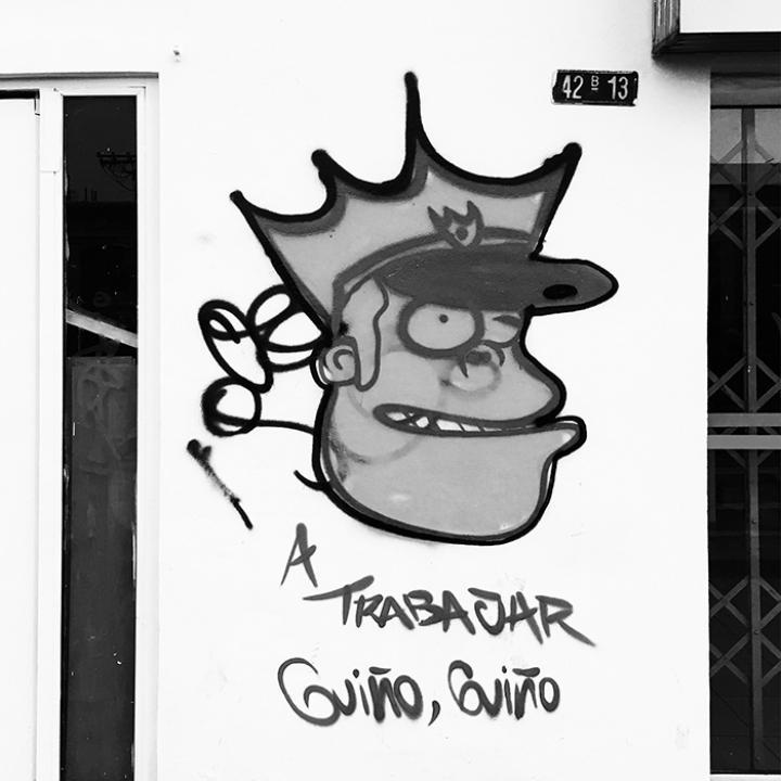 Graffiti En El Marco del Paro Nacional 28A   Cra. 13
