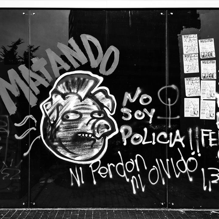 Graffiti En El Marco del Paro Nacional 28A   Cra. 7ma.