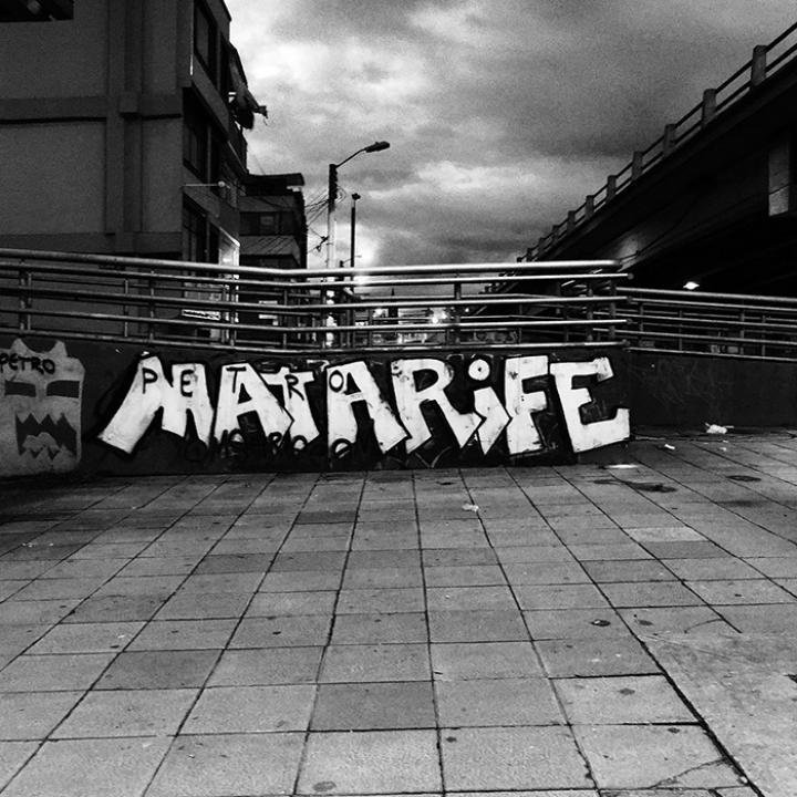 Graffiti En El Marco del Paro Nacional 28A   Cra. 30