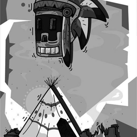 Trío Indio (1) - Kamany Acosta | Imagen vía Behance