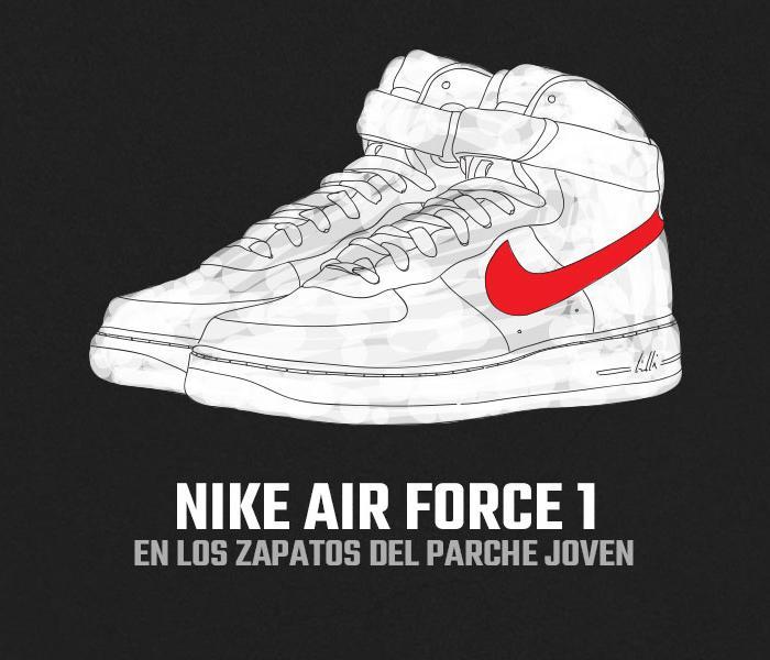 Cilios Anémona de mar Asombro  Nike Air Force 1 - En Los Zapatos Del Parche Joven   Diez Cero Uno